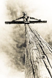 jesus on a tree-cross